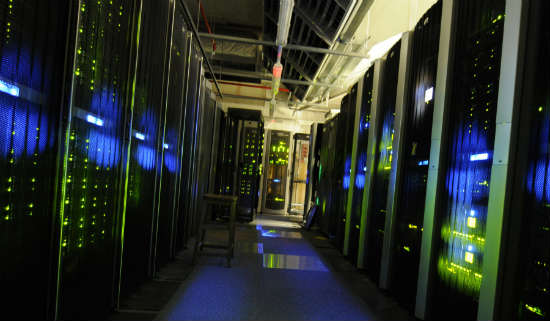 The server room at the UK National Archives.